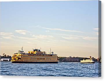 Staten Island Ferry Canvas Print - Staten Island Ferry by David Bearden
