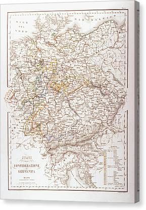 States Of The German Confederation Canvas Print by Fototeca Storica Nazionale