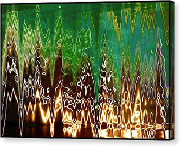 Static Frequency Canvas Print by Ginny Schmidt