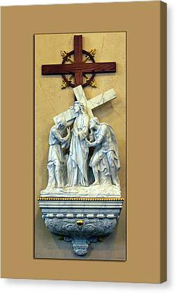 Station Of The Cross 02 Canvas Print by Thomas Woolworth