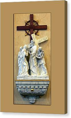 Station Of The Cross 04 Canvas Print by Thomas Woolworth