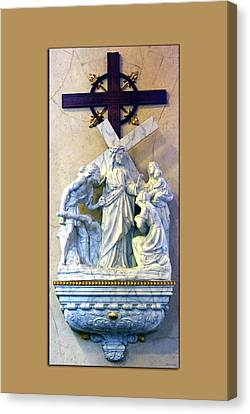 Station Of The Cross 08 Canvas Print by Thomas Woolworth