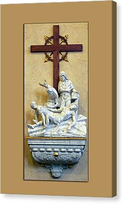 Station Of The Cross 11 Canvas Print by Thomas Woolworth