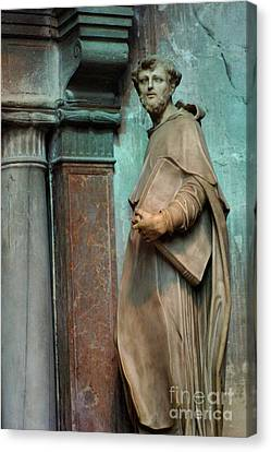 Statue In Italy Canvas Print by Bob Christopher