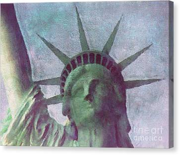 Statue Of Liberty Canvas Print by Angela Doelling AD DESIGN Photo and PhotoArt