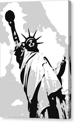 Statue Of Liberty Bw3 Canvas Print by Scott Kelley