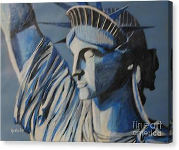 Statue Of Liberty Canvas Print by Nedunseralathan R