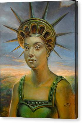 Statue Of Liberty Still Alive Canvas Print by Jiri Mesicki