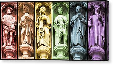 Statues Adorning St George's Cathedral Canvas Print