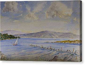 Canvas Print featuring the painting Steady Wind by Rob Hemphill