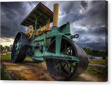 Steam Tractor Canvas Print by Eric Gendron