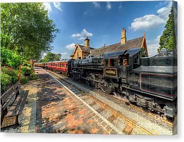 Steam Train Canvas Print by Adrian Evans