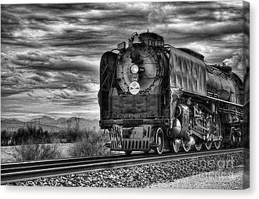 Steam Train No 844 - Iv Canvas Print by Donna Greene