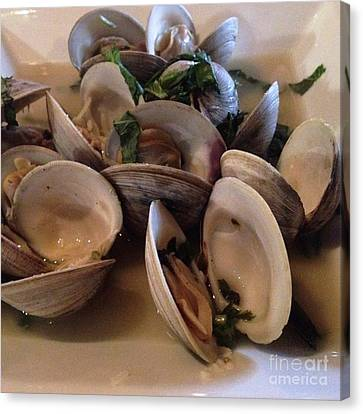 Steamed Clams For Dinner Canvas Print