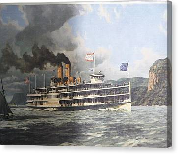 Steamer Alexander Hamilton William G Muller Canvas Print by Jake Hartz