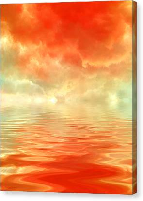 Steaming Home Canvas Print