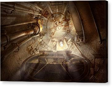 Steampunk - Naval - The Escape Hatch Canvas Print by Mike Savad