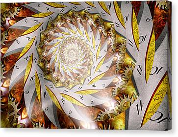 Steampunk - Spiral - Time Iris Canvas Print by Mike Savad