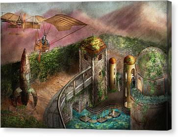 Steampunk - The Age Of Invention Canvas Print by Mike Savad