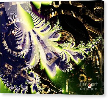 Steampunk Abstract Fractal . S2 Canvas Print by Wingsdomain Art and Photography