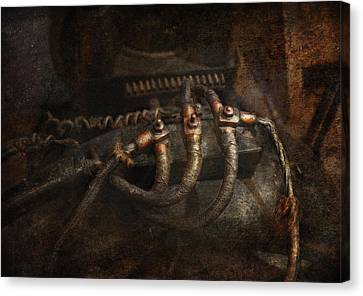 Steampunk - Electrical - Frayed Connections Canvas Print by Mike Savad