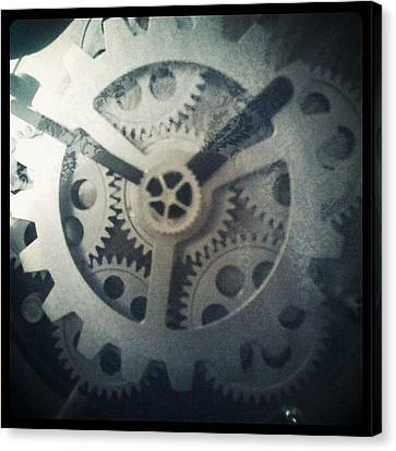 #steampunk #gears #clock #webstagram Canvas Print by KLH Streets Photography