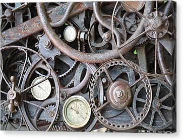 Steampunk Gears Canvas Print by Mandi Howard