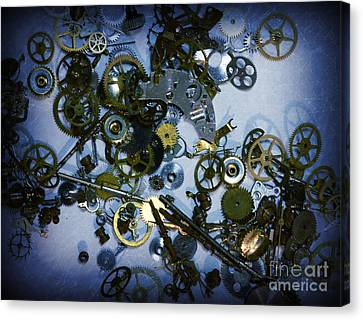 Steampunk Gears - Time Destroyed Canvas Print by Paul Ward