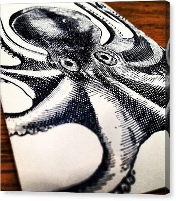#steampunk #octopus #vintage Canvas Print