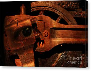 Steampunk Part Number 93063 Ghost In The Machine Canvas Print by Wingsdomain Art and Photography