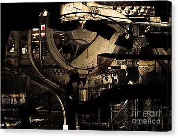Steampunk Patent 1215 Prototype A . Gold Version Canvas Print by Wingsdomain Art and Photography