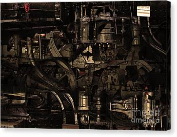 Steampunk Patent 1215 Prototype B . Gold Version Canvas Print by Wingsdomain Art and Photography