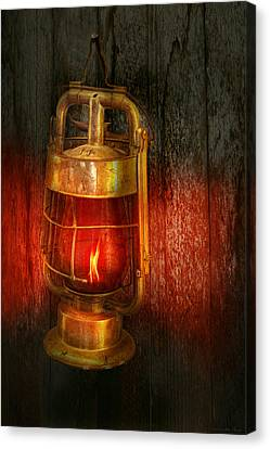 Steampunk - Red Light District Canvas Print by Mike Savad
