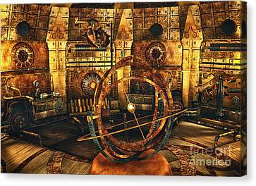 Steampunk Time Lab Canvas Print by Jutta Maria Pusl