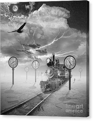 Steampunk Traveler Canvas Print by Keith Kapple