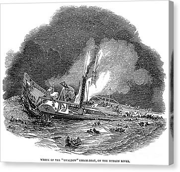 Steamship Accident, 1845 Canvas Print by Granger