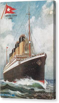 Steamship Titanic Canvas Print by Photo Researchers