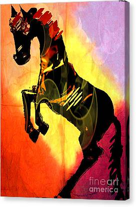 Steed 3 Canvas Print by Amber Stubbs