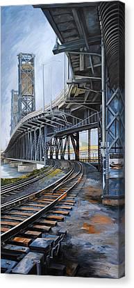 Steel Bridge 2012 Canvas Print