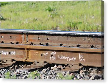 Steel Tracks Canvas Print by Mark McReynolds