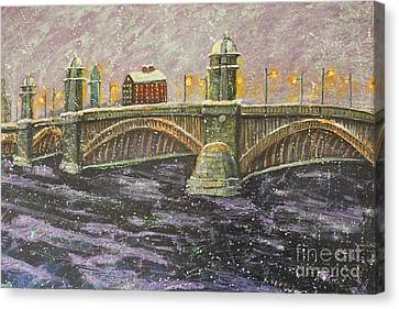 Canvas Print featuring the painting 'steeling' Longfellow by Rita Brown