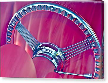 Steering Wheel Classic Canvas Print by Carolyn Marshall