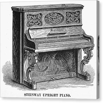 Steinway Piano, 1878 Canvas Print by Granger