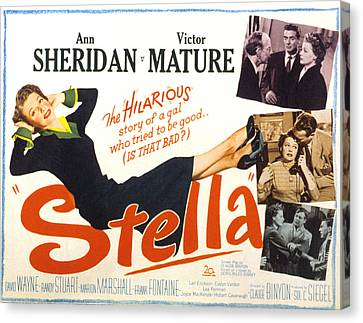 Stella, Ann Sheridan, 1950 Canvas Print by Everett