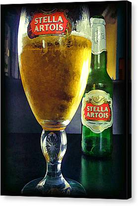 Canvas Print featuring the painting Stella  by Steven Richardson