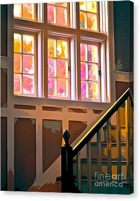 Step By Step Canvas Print by Gwyn Newcombe