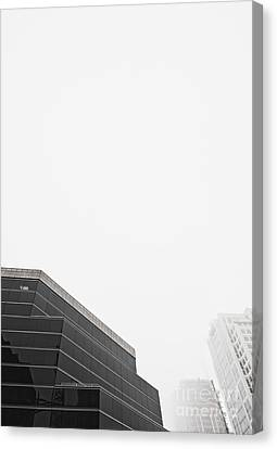 Step Tiered Office Building With Dark Windows Canvas Print
