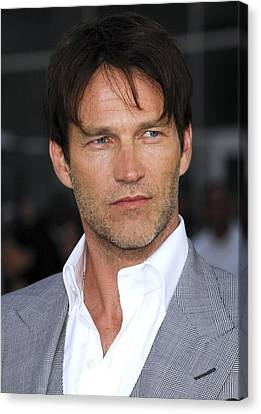 Stephen Moyer At Arrivals For True Canvas Print