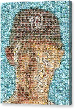 Stephen Strasburg Card Mosaic Canvas Print by Paul Van Scott