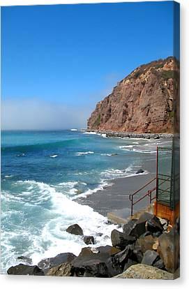 Steps To The Beach. Dana Point California Canvas Print by Connie Fox